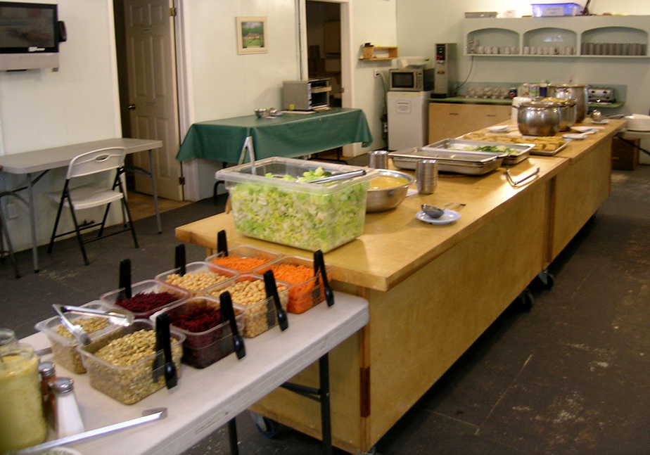 Food served in the dining hall
